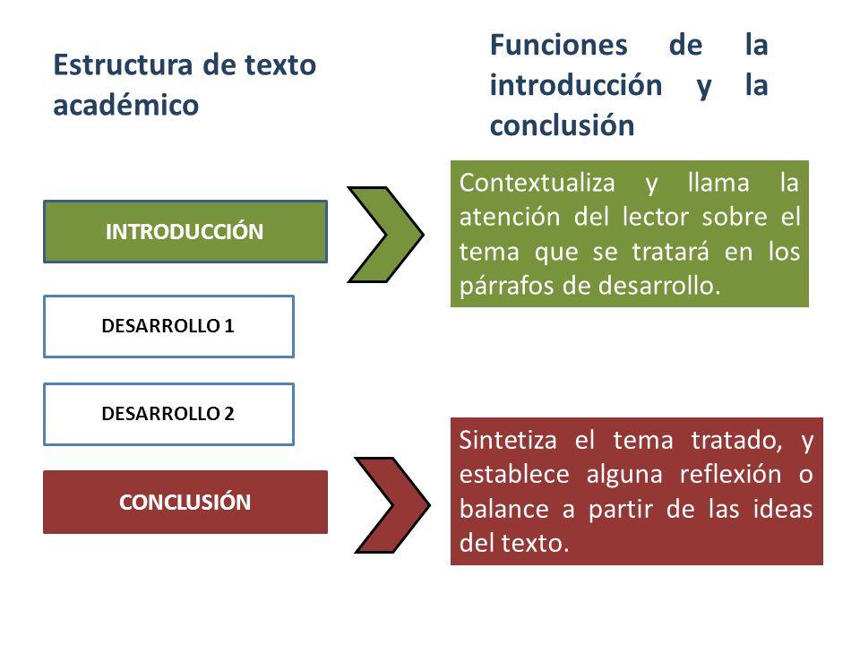 Estructura de texto académico