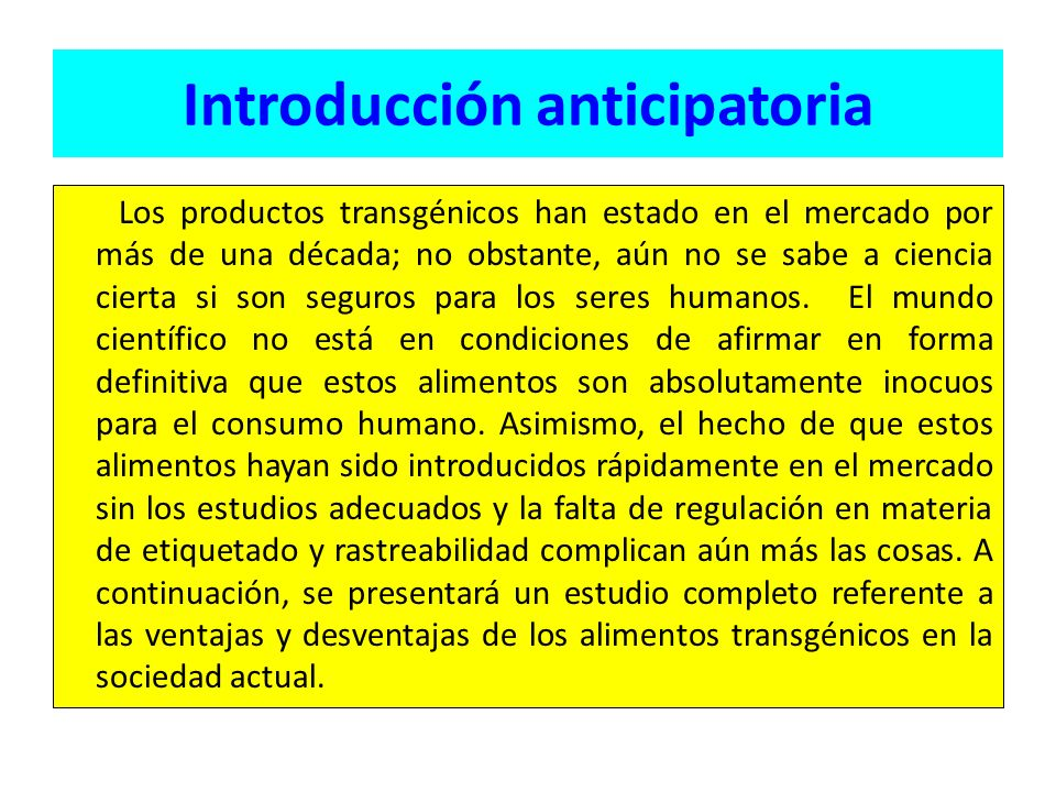 Introducción anticipatoria