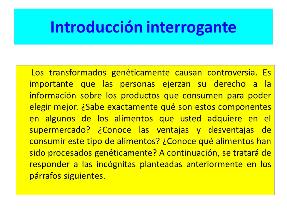 Introducción interrogante