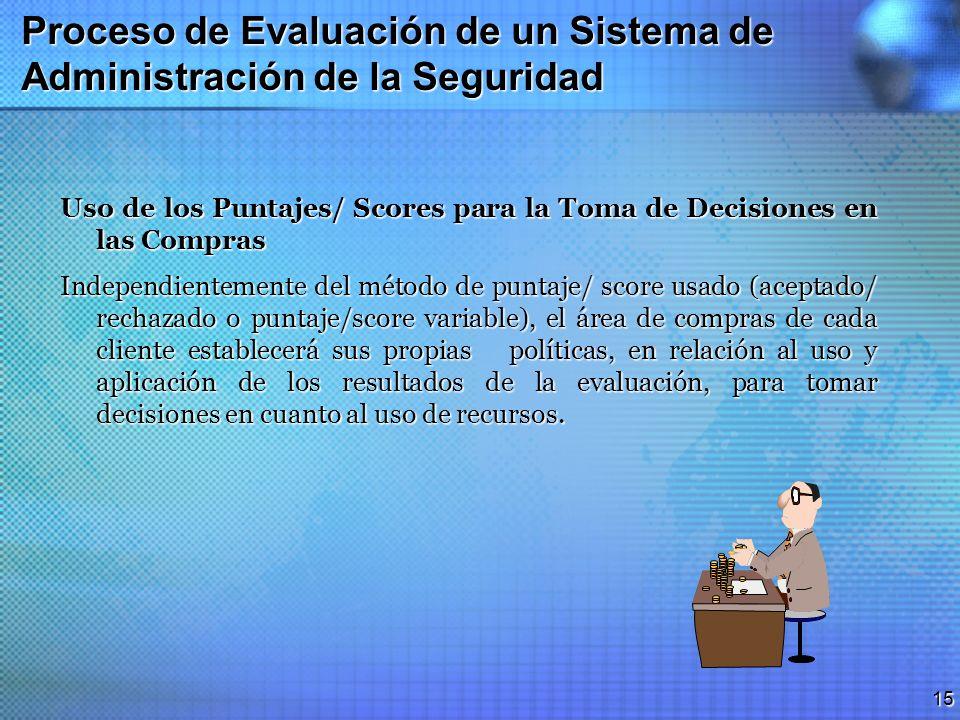 Proceso de Evaluación de un Sistema de Administración de la Seguridad