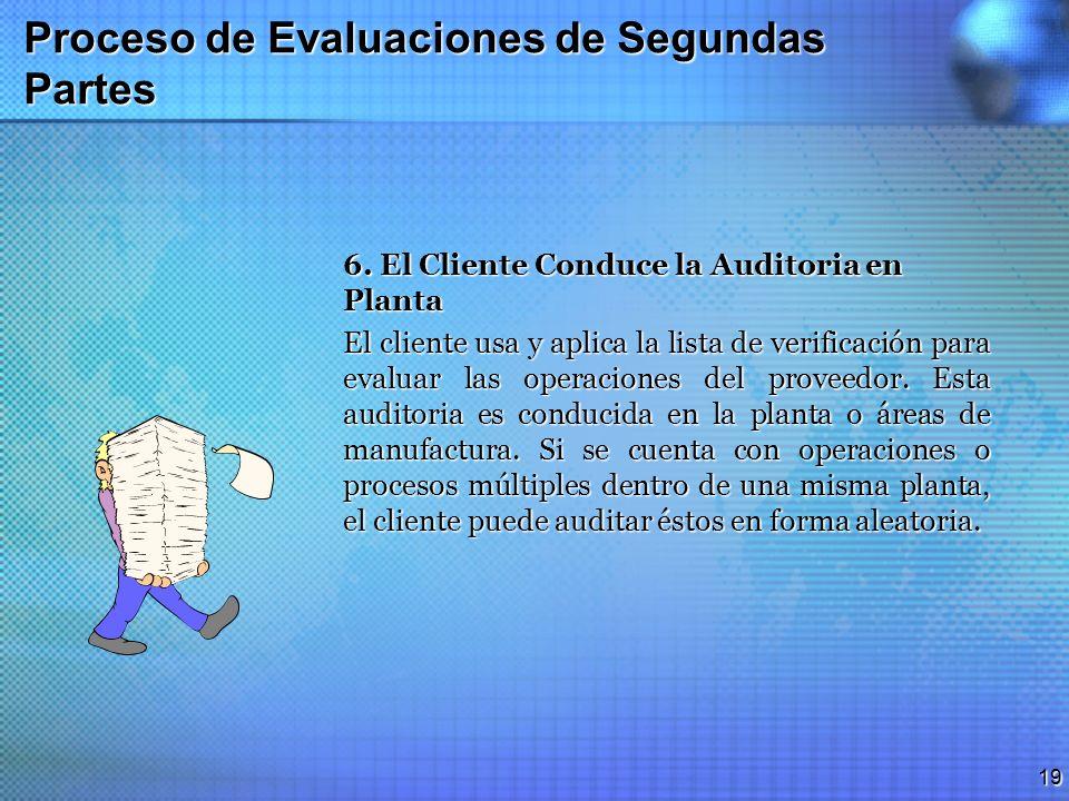 Proceso de Evaluaciones de Segundas Partes