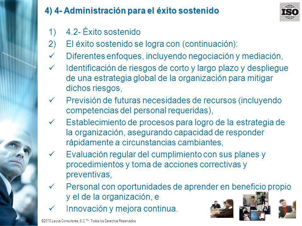 4) 4- Administración para el éxito sostenido