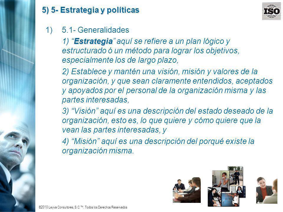 5) 5- Estrategia y políticas