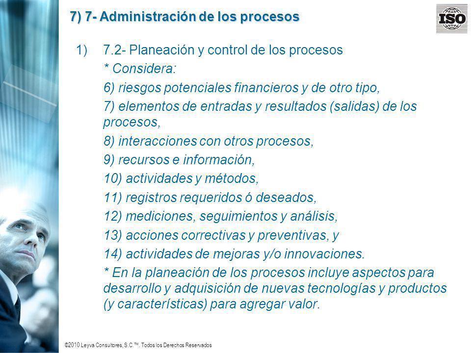 7) 7- Administración de los procesos