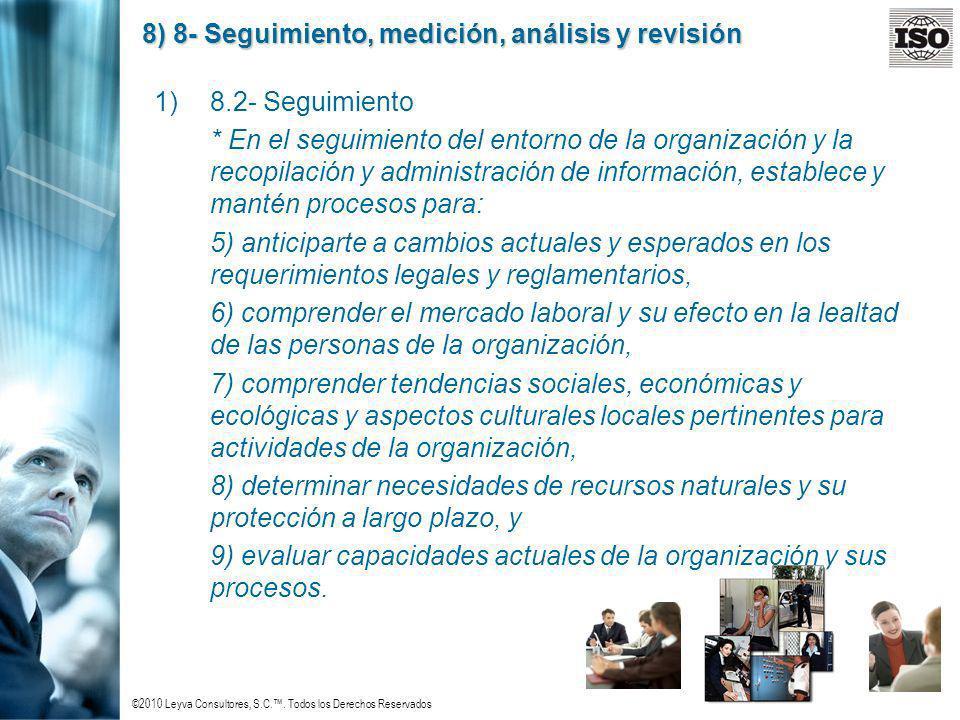 8) 8- Seguimiento, medición, análisis y revisión