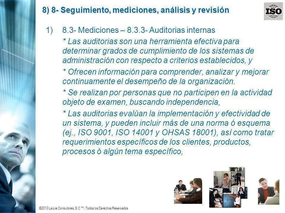8) 8- Seguimiento, mediciones, análisis y revisión