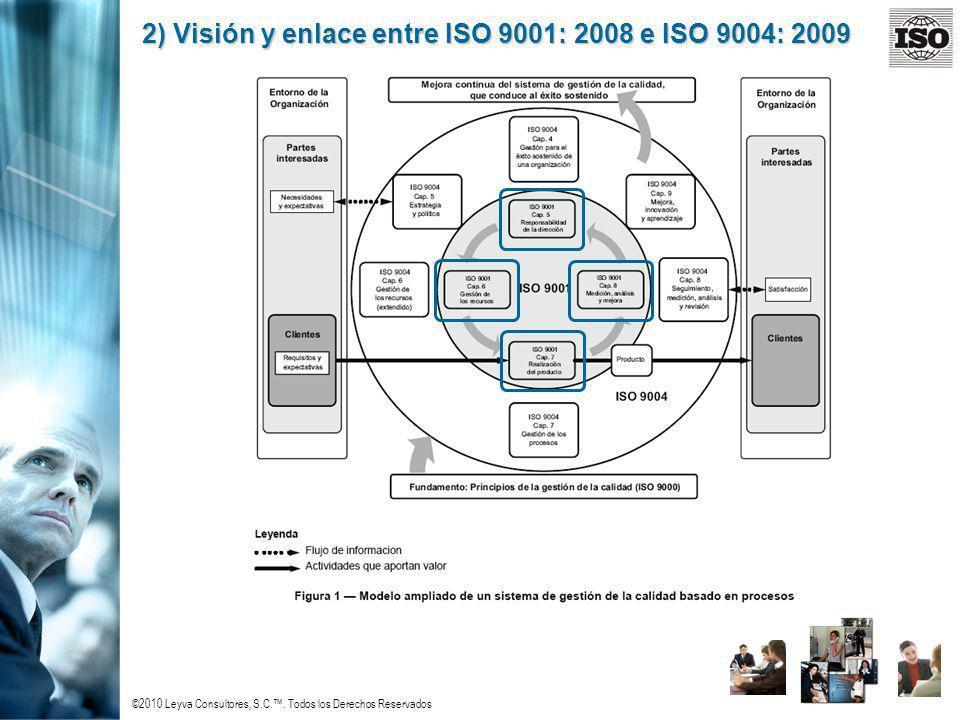 2) Visión y enlace entre ISO 9001: 2008 e ISO 9004: 2009