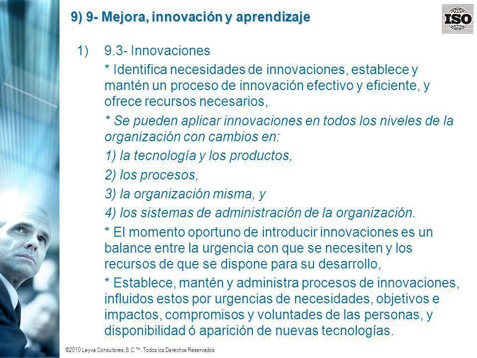 9) 9- Mejora, innovación y aprendizaje