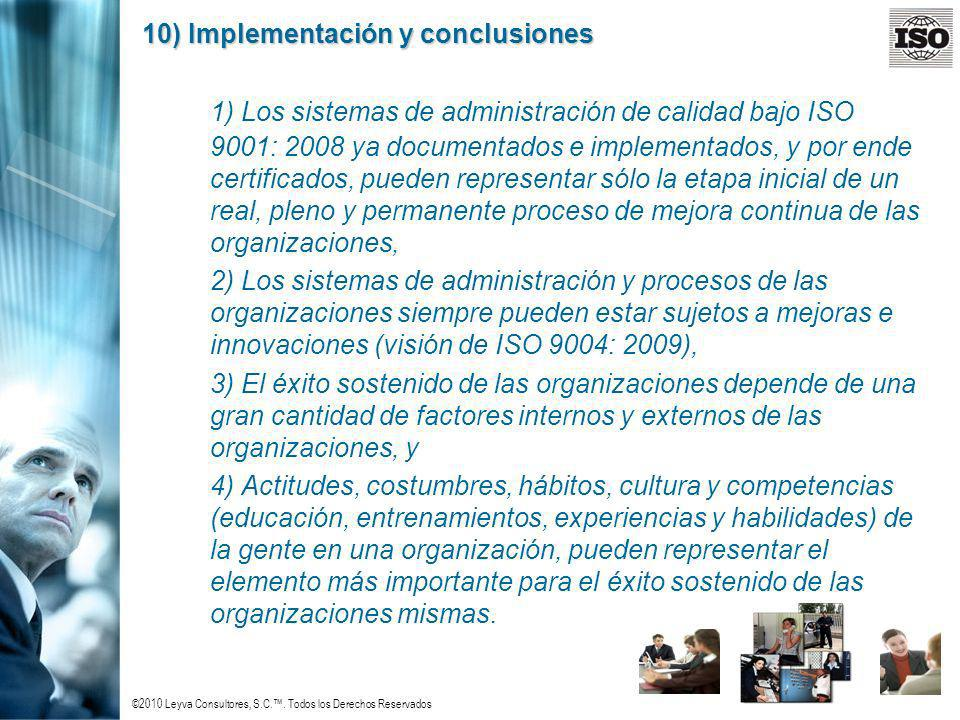10) Implementación y conclusiones