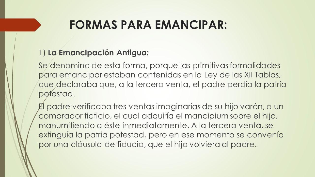 FORMAS PARA EMANCIPAR: