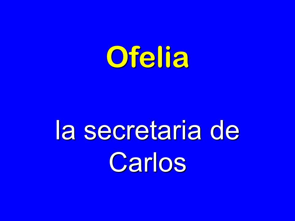 la secretaria de Carlos