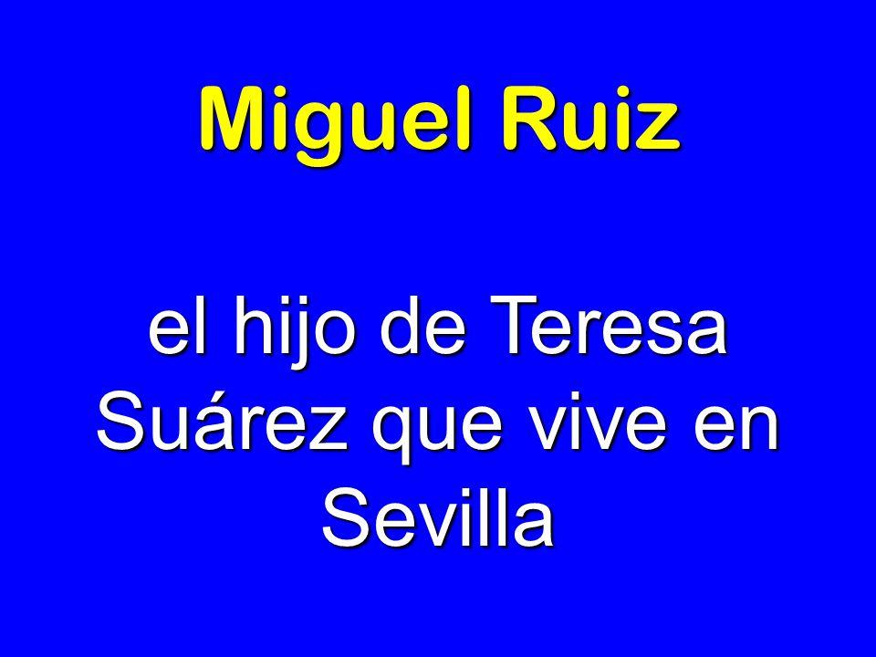 el hijo de Teresa Suárez que vive en Sevilla