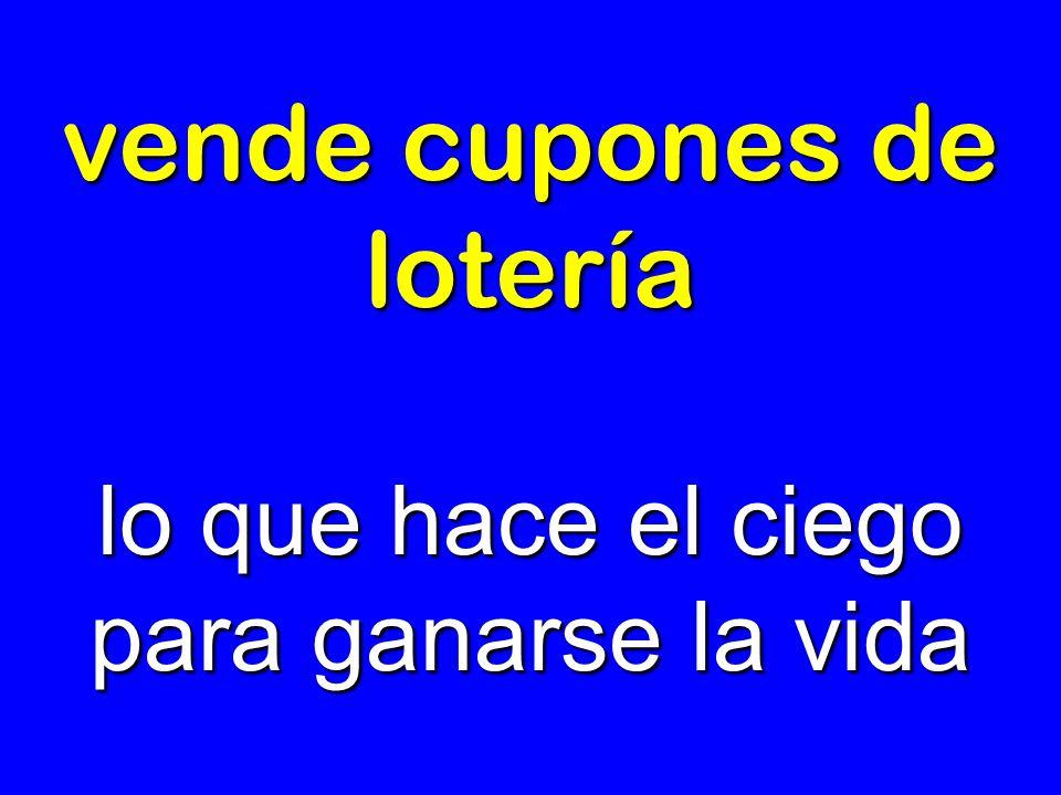 vende cupones de lotería