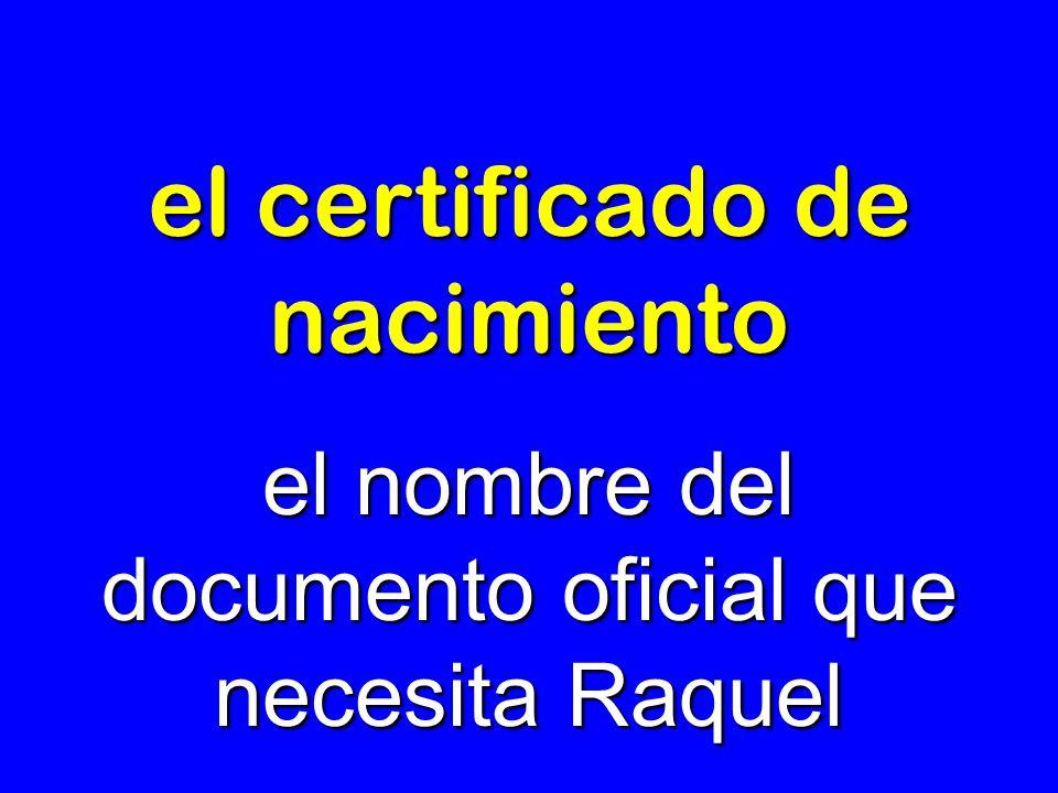 el certificado de nacimiento