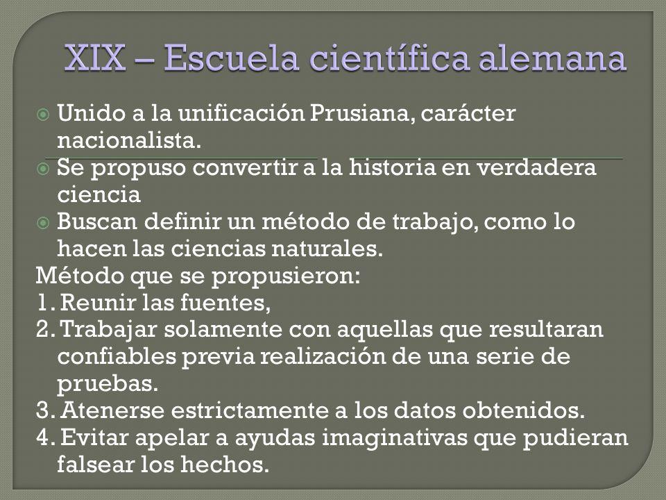 XIX – Escuela científica alemana