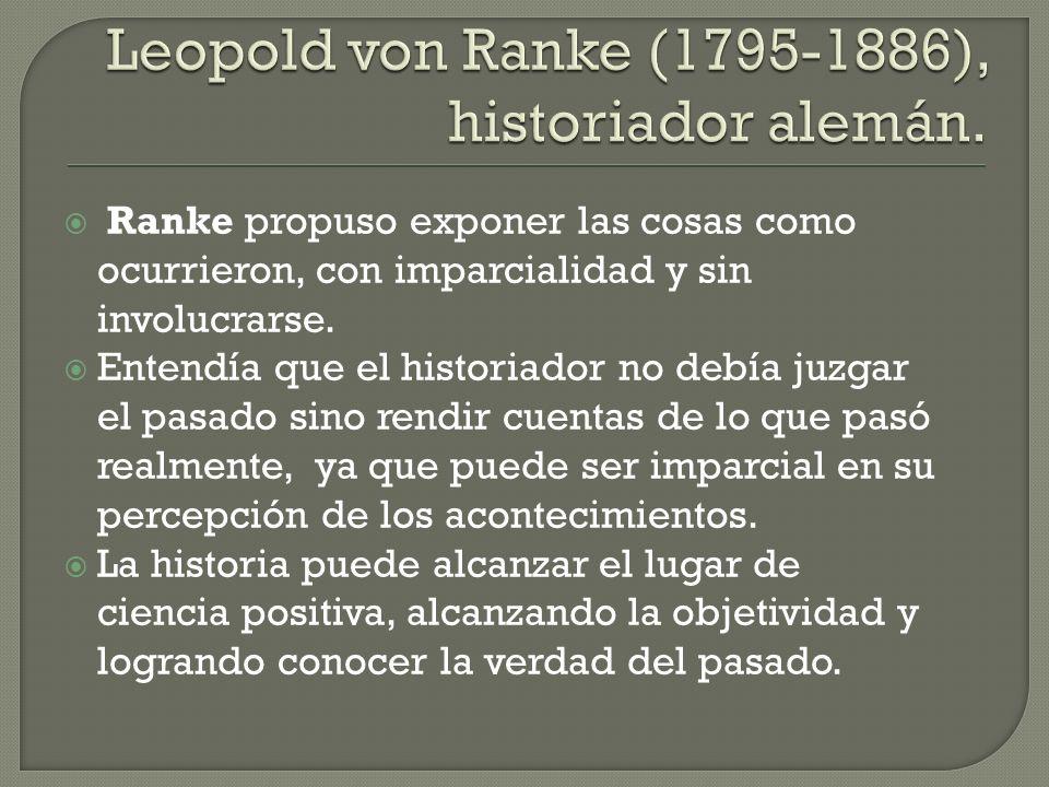 Leopold von Ranke (1795-1886), historiador alemán.
