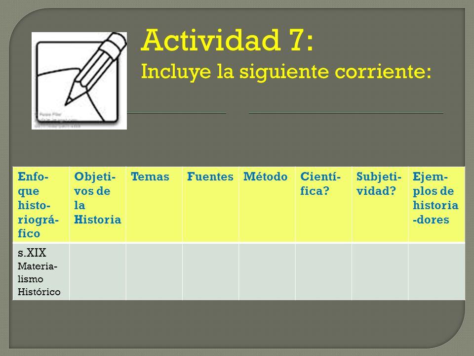 Actividad 7: Incluye la siguiente corriente:
