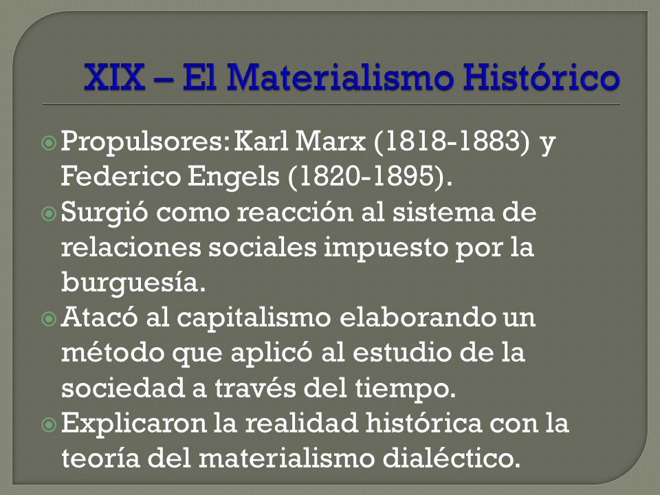 XIX – El Materialismo Histórico