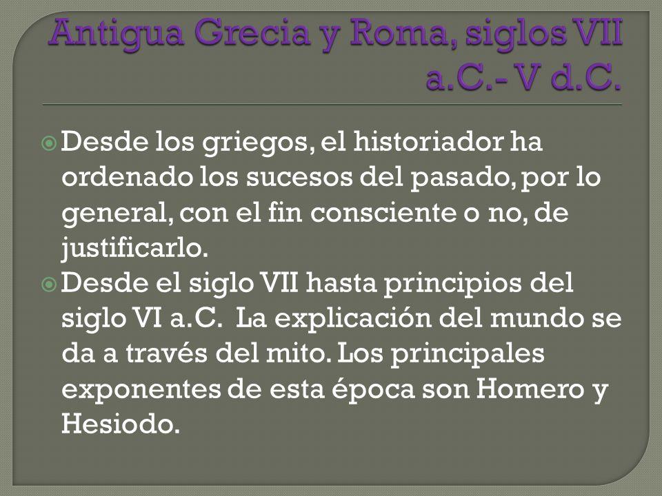 Antigua Grecia y Roma, siglos VII a.C.- V d.C.