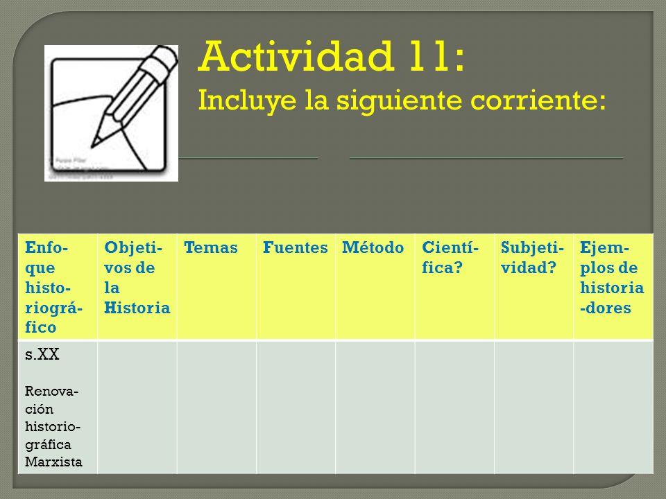 Actividad 11: Incluye la siguiente corriente: