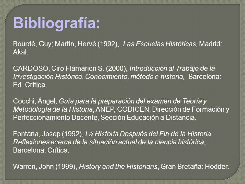 Bibliografía: Bourdé, Guy; Martin, Hervé (1992), Las Escuelas Históricas, Madrid: Akal.