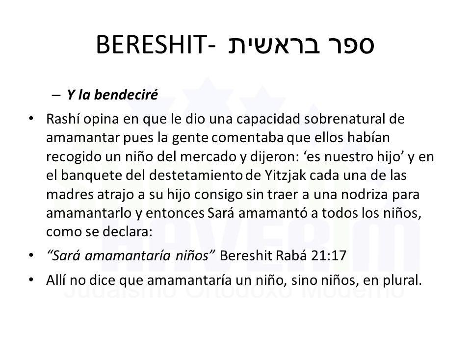BERESHIT- ספר בראשית Y la bendeciré
