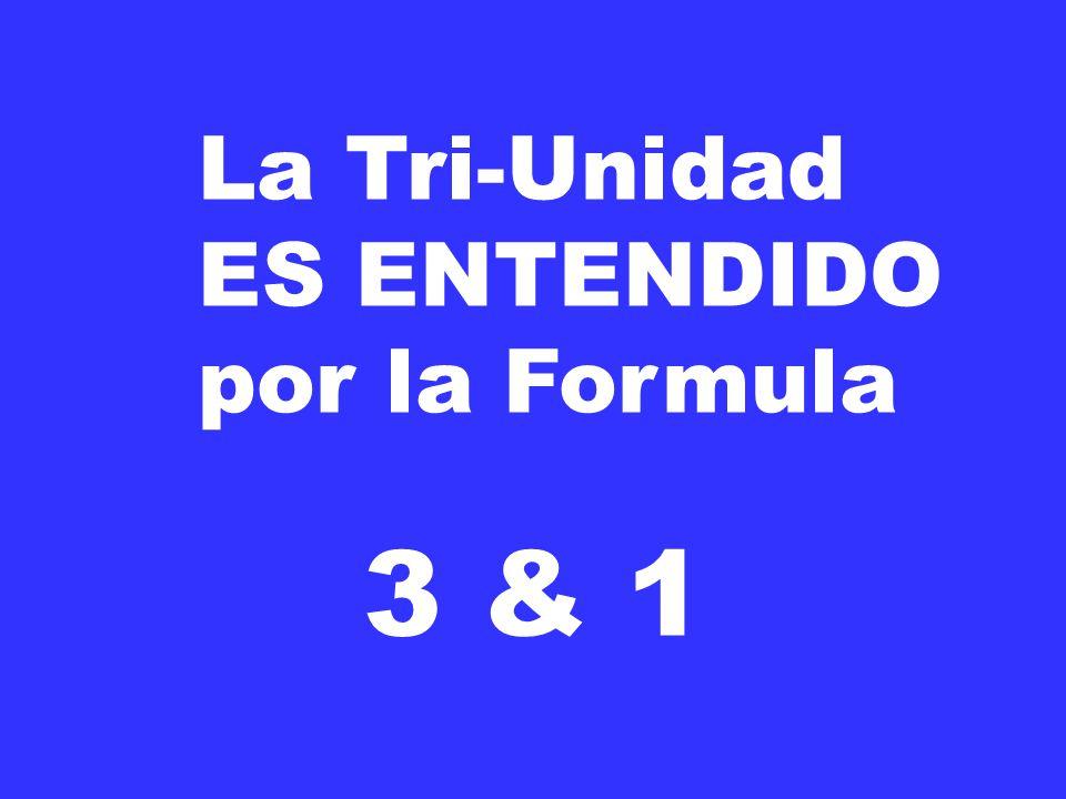 La Tri-Unidad ES ENTENDIDO por la Formula 3 & 1