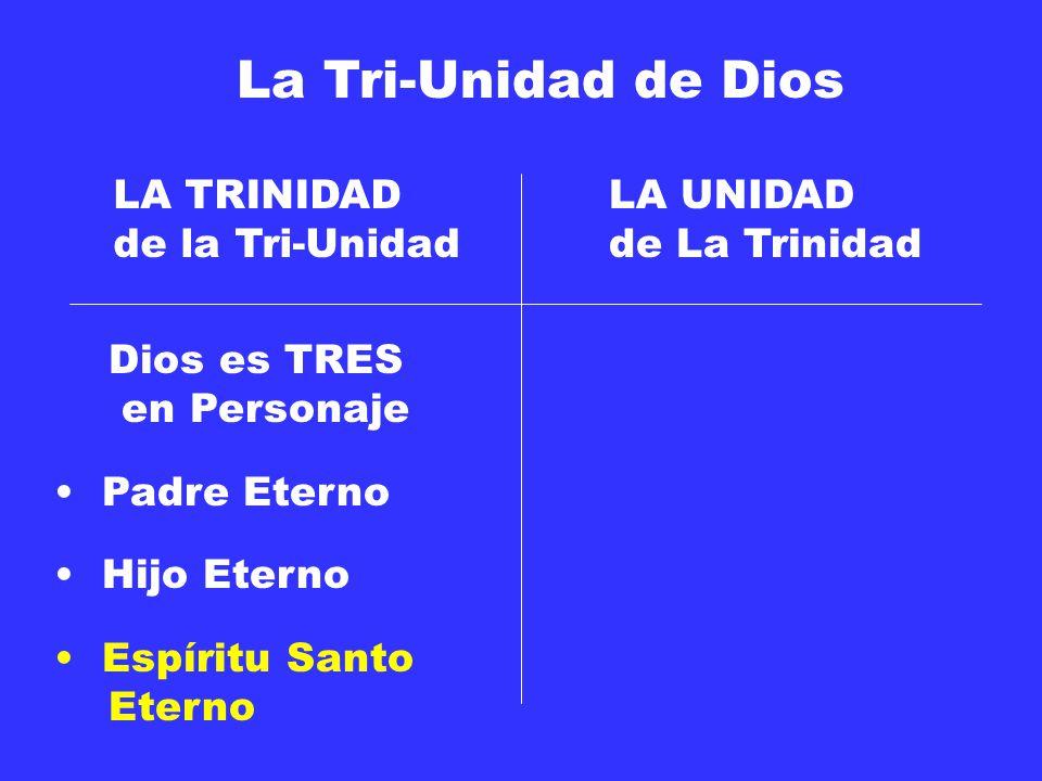 La Tri-Unidad de Dios LA TRINIDAD de la Tri-Unidad LA UNIDAD