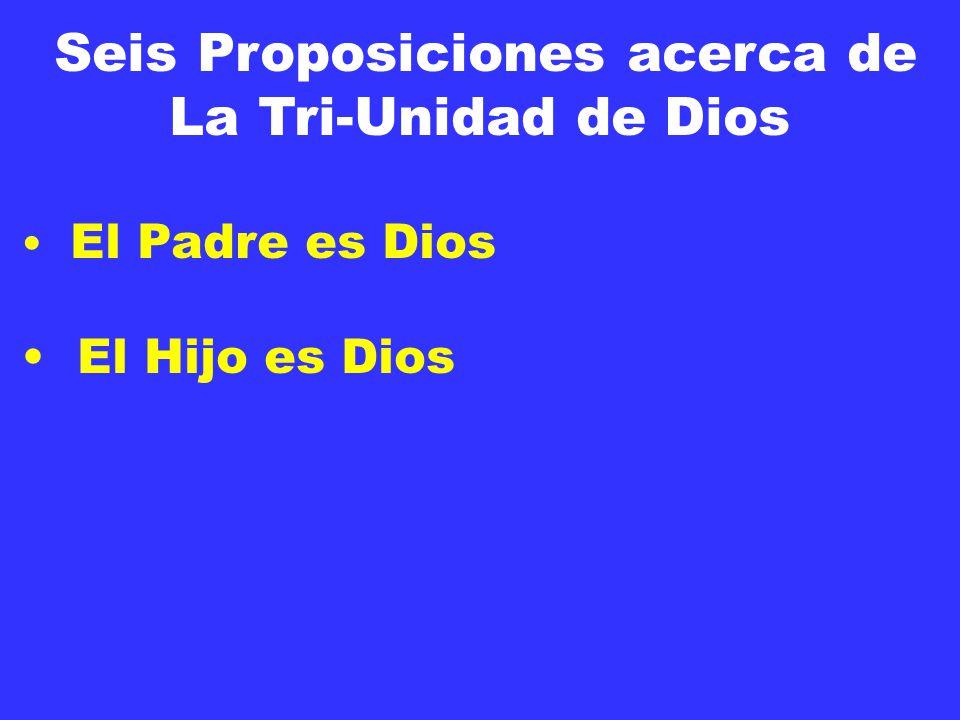 Seis Proposiciones acerca de