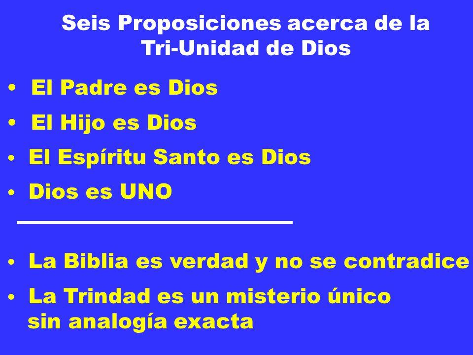 Seis Proposiciones acerca de la