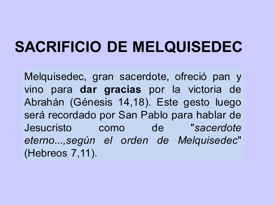 SACRIFICIO DE MELQUISEDEC