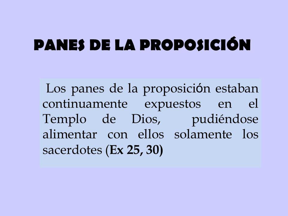 PANES DE LA PROPOSICIÓN