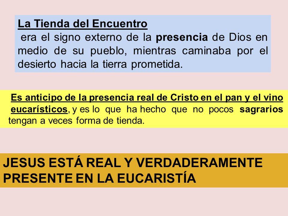 JESUS ESTÁ REAL Y VERDADERAMENTE PRESENTE EN LA EUCARISTÍA
