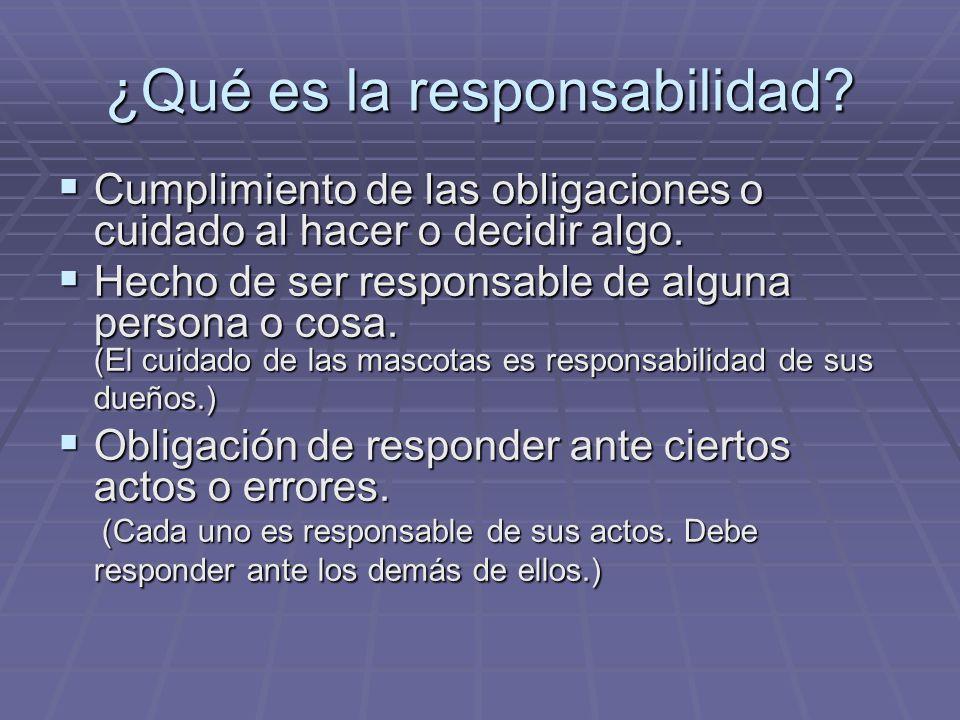 ¿Qué es la responsabilidad