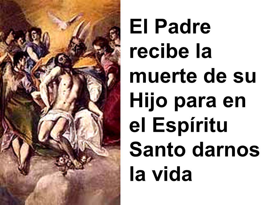 El Padre recibe la muerte de su Hijo para en el Espíritu Santo darnos la vida