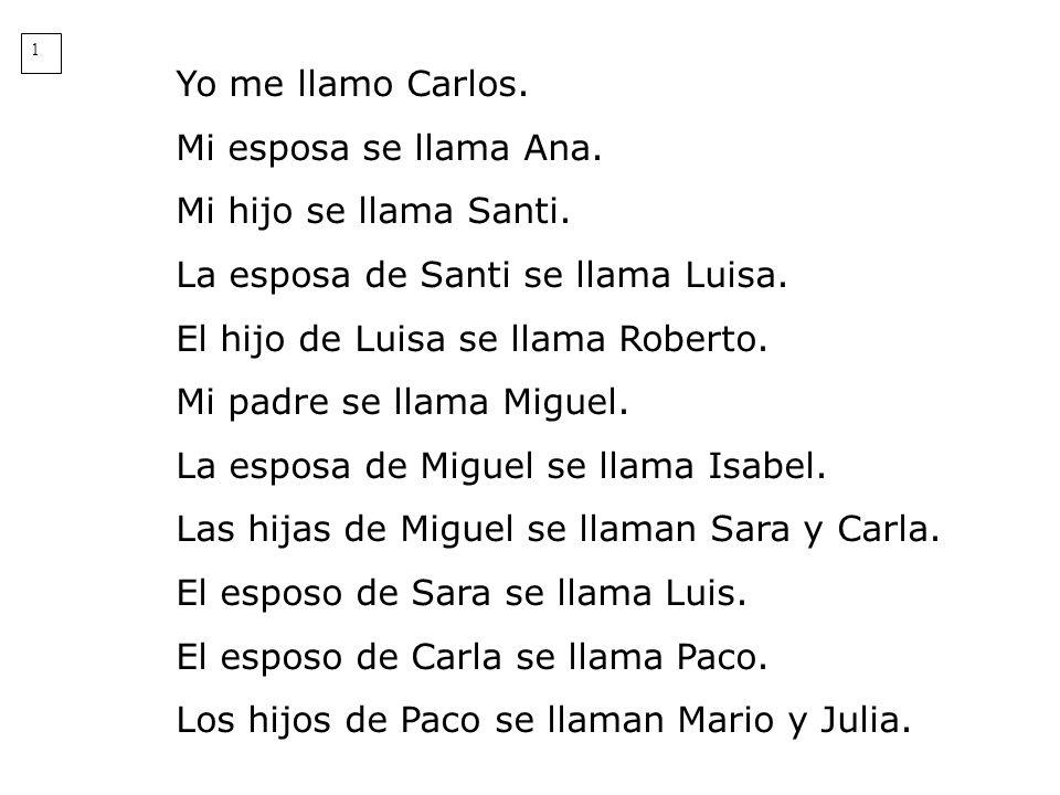 La esposa de Santi se llama Luisa. El hijo de Luisa se llama Roberto.
