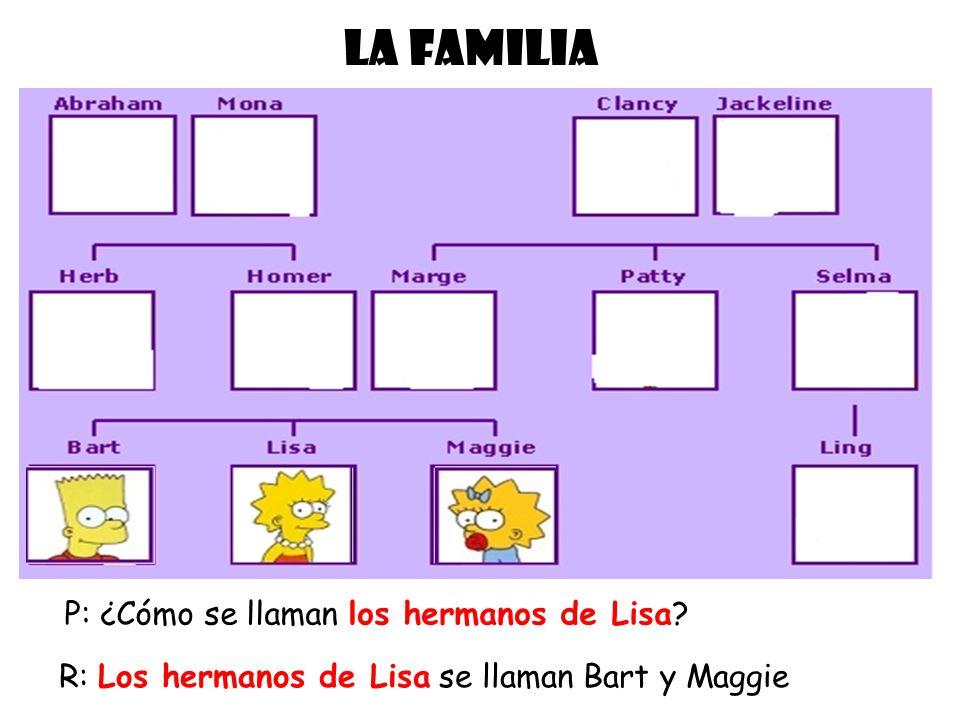 LA FAMILIA P: ¿Cómo se llaman los hermanos de Lisa