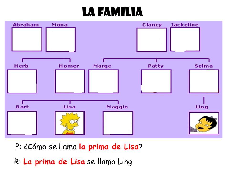 LA FAMILIA P: ¿Cómo se llama la prima de Lisa