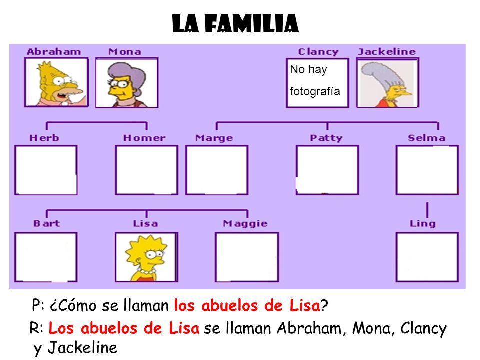 LA FAMILIA P: ¿Cómo se llaman los abuelos de Lisa
