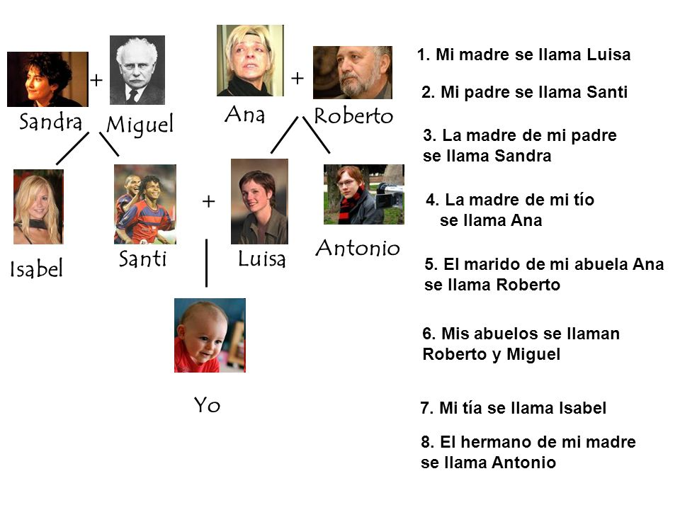 Ana Roberto Sandra Miguel Antonio Santi Luisa Isabel Yo