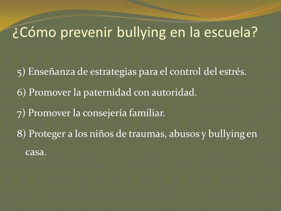 ¿Cómo prevenir bullying en la escuela