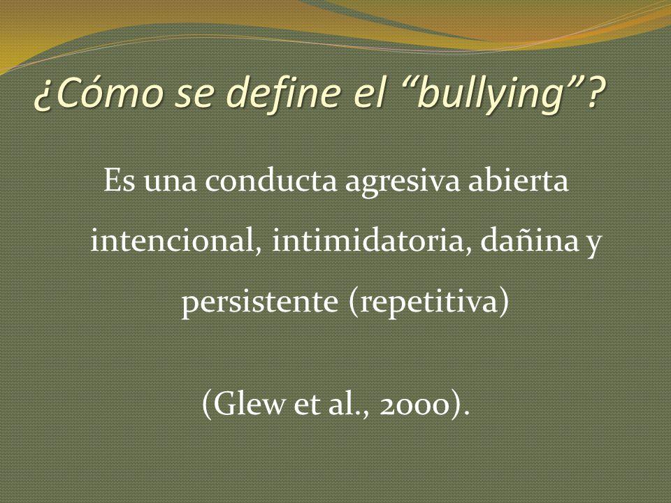¿Cómo se define el bullying