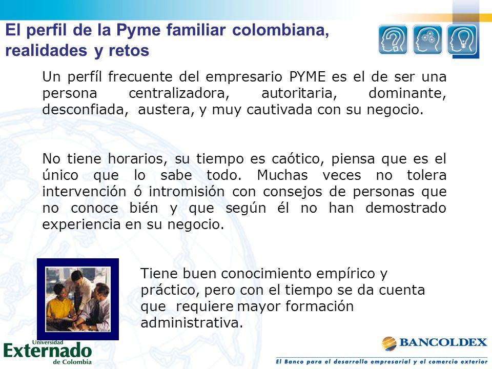 El perfil de la Pyme familiar colombiana, realidades y retos