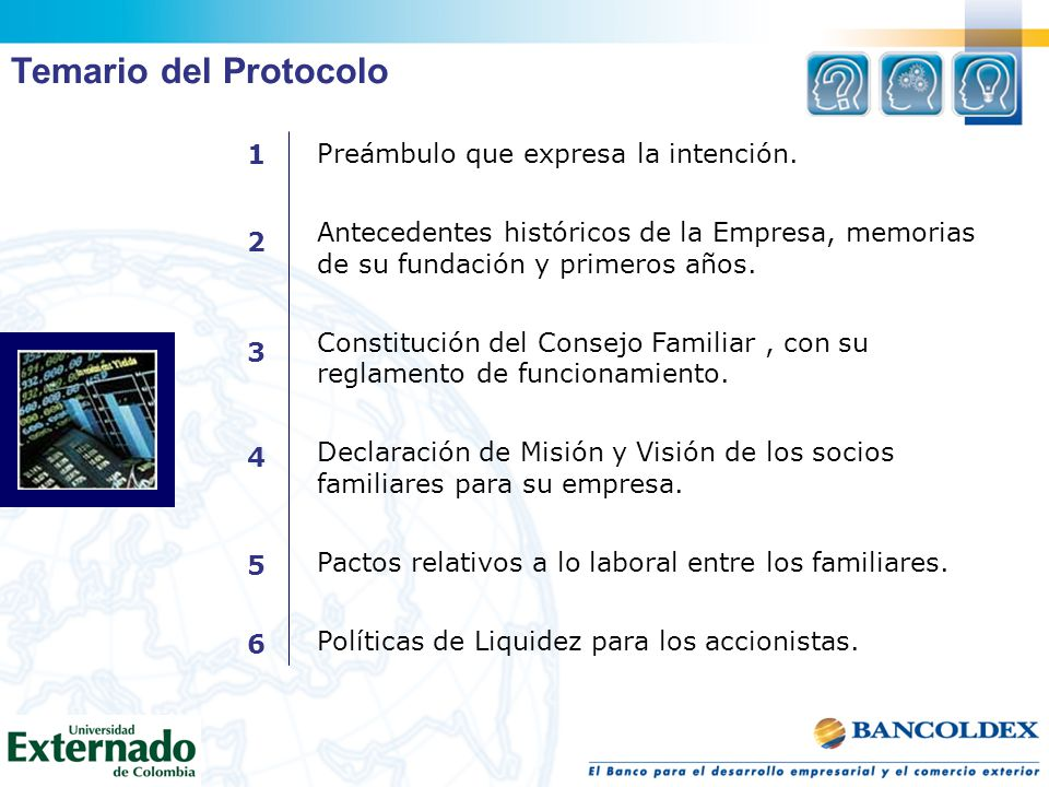 Temario del Protocolo 1 Preámbulo que expresa la intención.