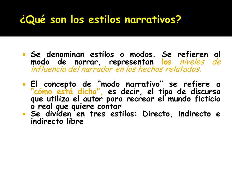 ¿Qué son los estilos narrativos