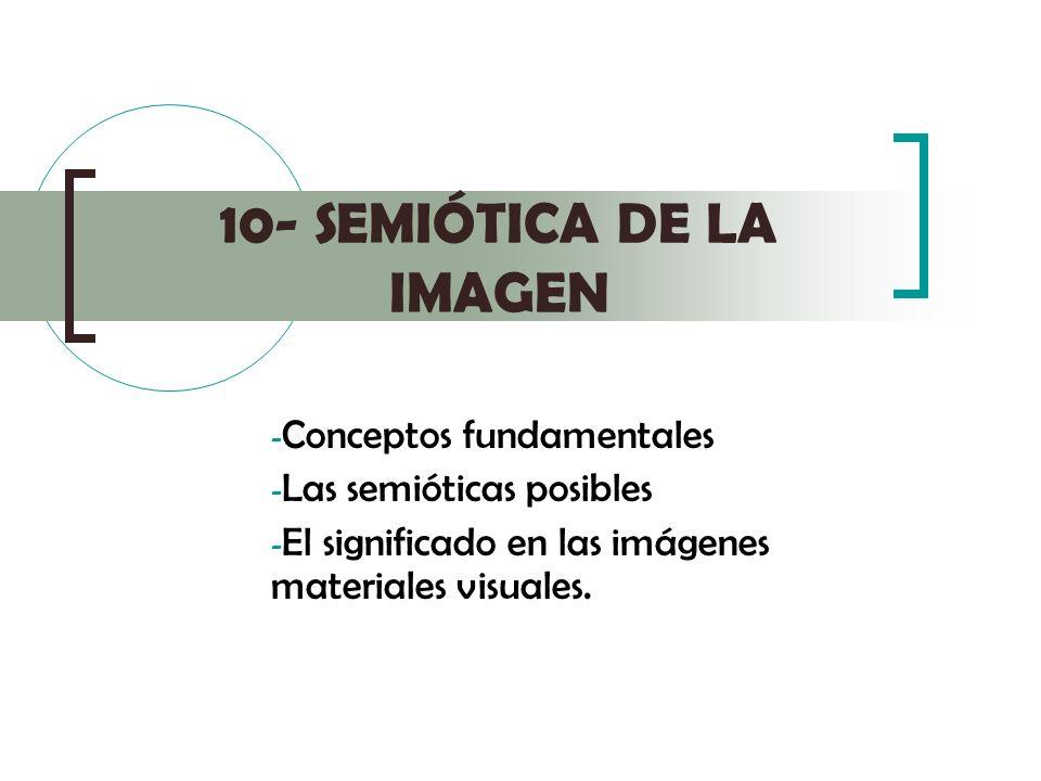 10- SEMIÓTICA DE LA IMAGEN