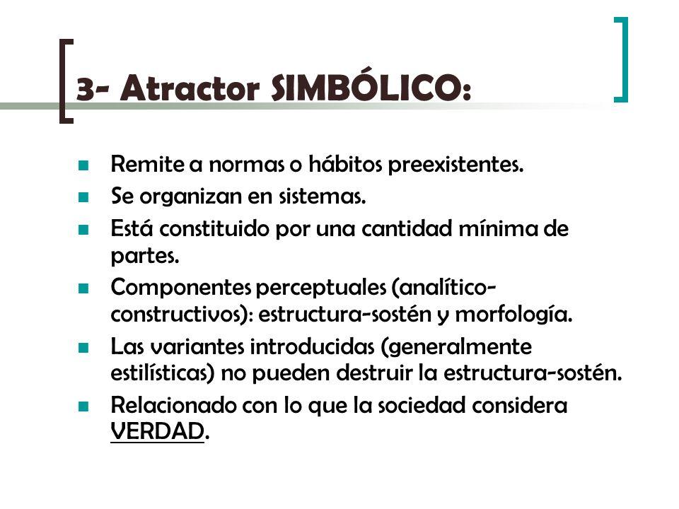 3- Atractor SIMBÓLICO: Remite a normas o hábitos preexistentes.