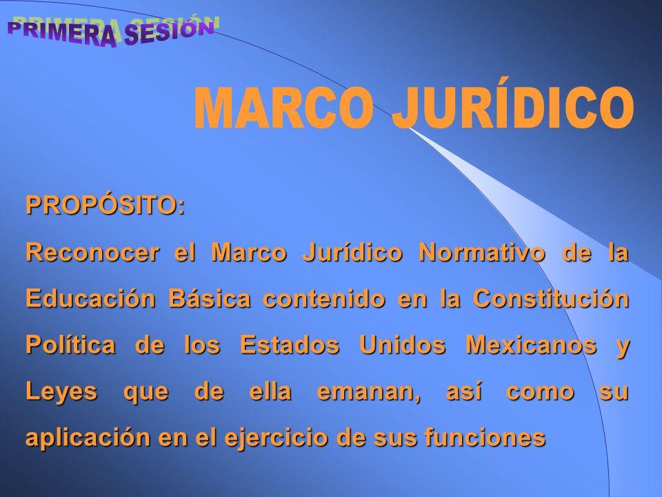 PRIMERA SESIÓN MARCO JURÍDICO