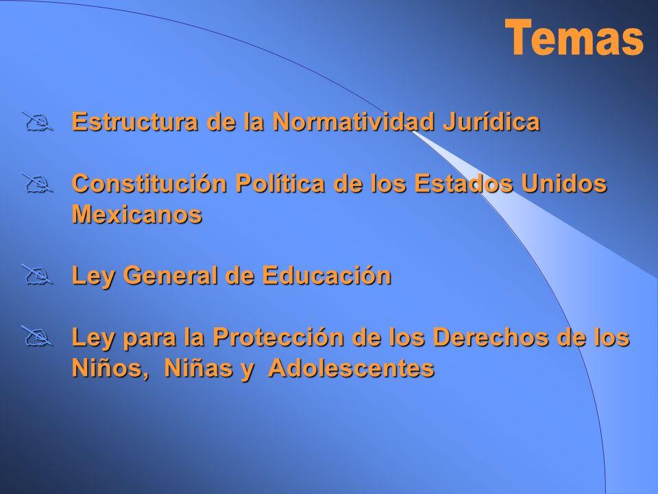 Temas Estructura de la Normatividad Jurídica