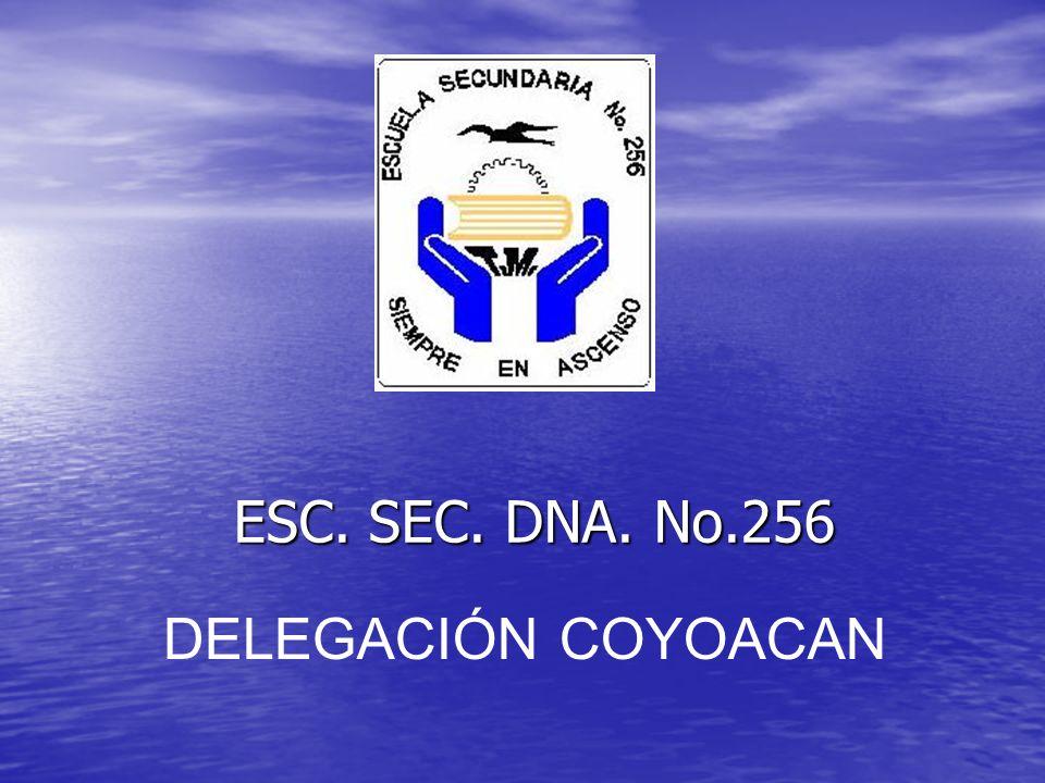 ESC. SEC. DNA. No.256 DELEGACIÓN COYOACAN